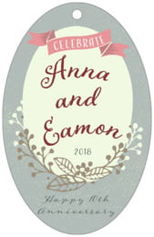 Spring Meadow large oval hang tags