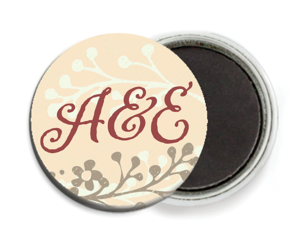 custom button magnets - gold - spring meadow (set of 6)