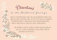 custom enclosure cards - peach - spring meadow (set of 10)