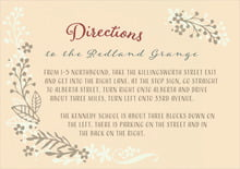 custom enclosure cards - gold - spring meadow (set of 10)