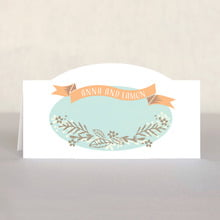 Spring Meadow Place Card In Sea Glass