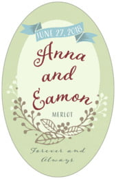 Spring Meadow tall oval labels