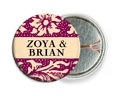 Rococo Summer pin back buttons