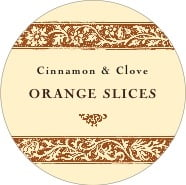 Rococo Summer large circle labels