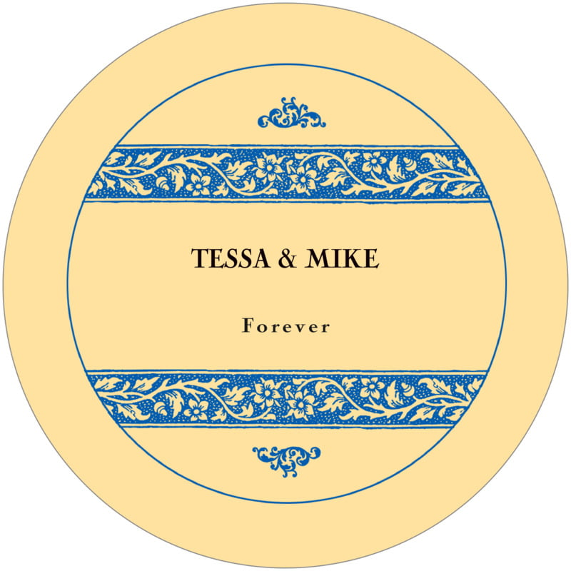round wine coasters - royal blue & gold - rococo summer (set of 12)
