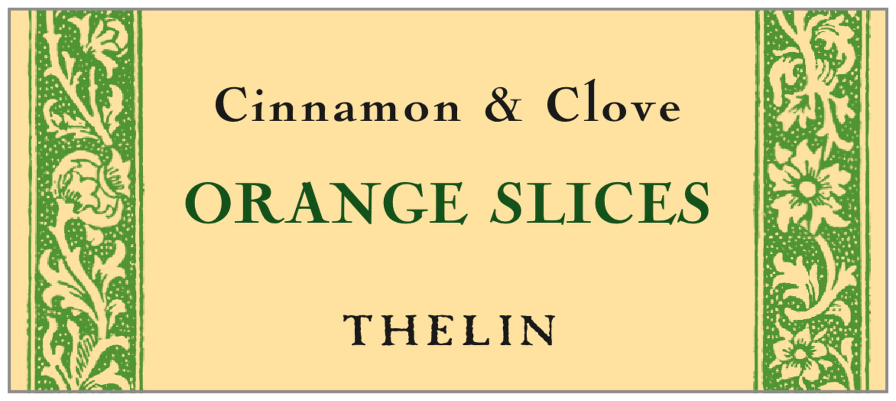 small rectangle food/craft labels - lime - rococo summer (set of 24)