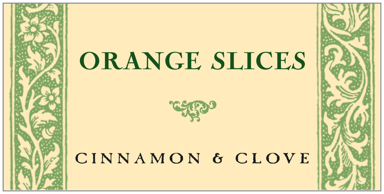 small rectangular food/craft labels - sage & ivory - rococo summer (set of 24)