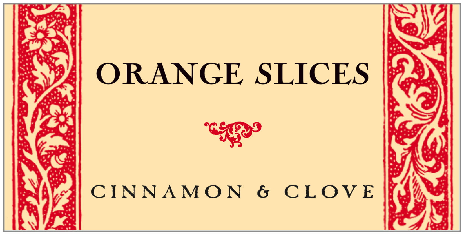 small rectangular food/craft labels - cherry - rococo summer (set of 24)