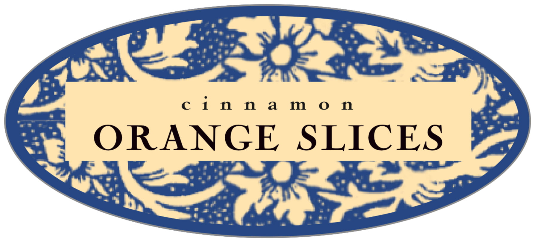 oval food/craft labels - blue - rococo summer (set of 30)