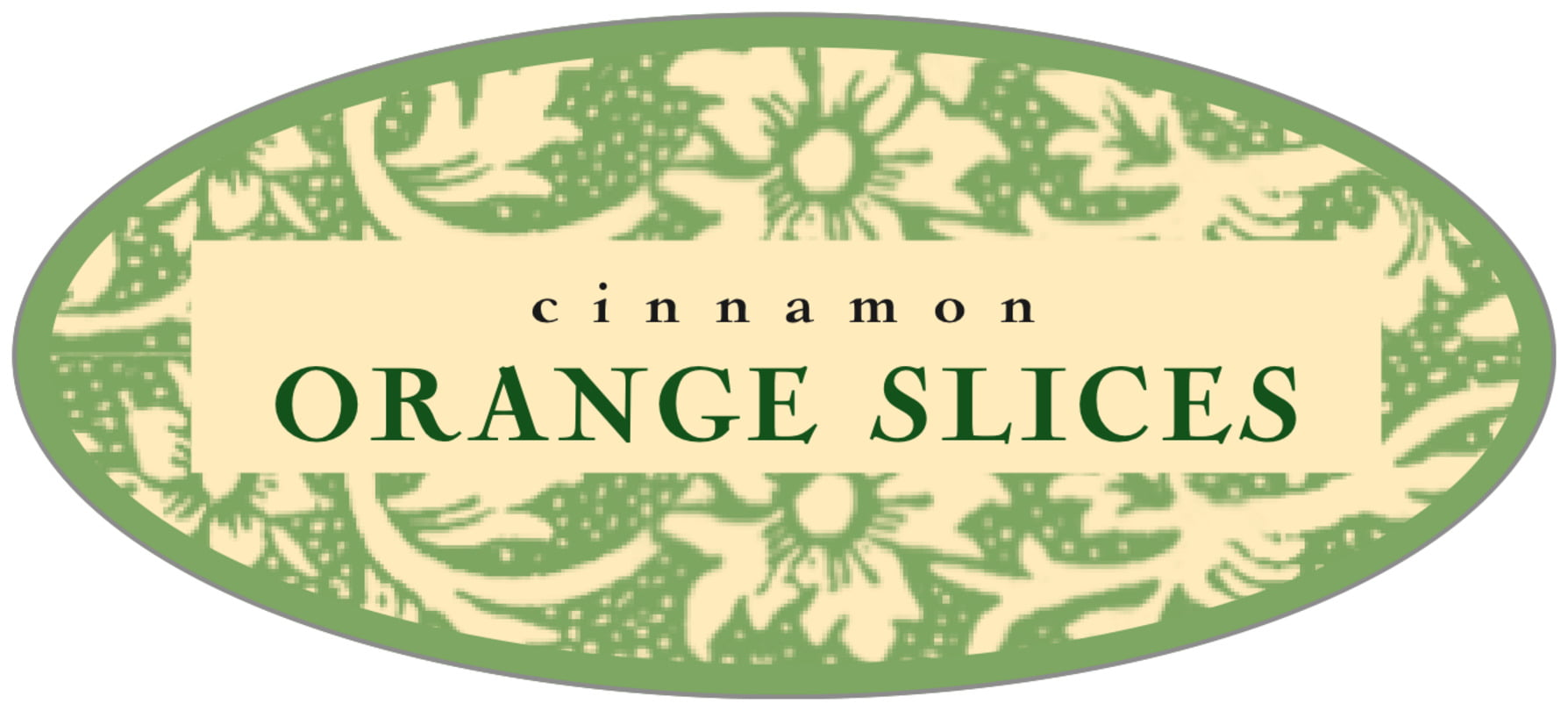 oval food/craft labels - sage & ivory - rococo summer (set of 30)