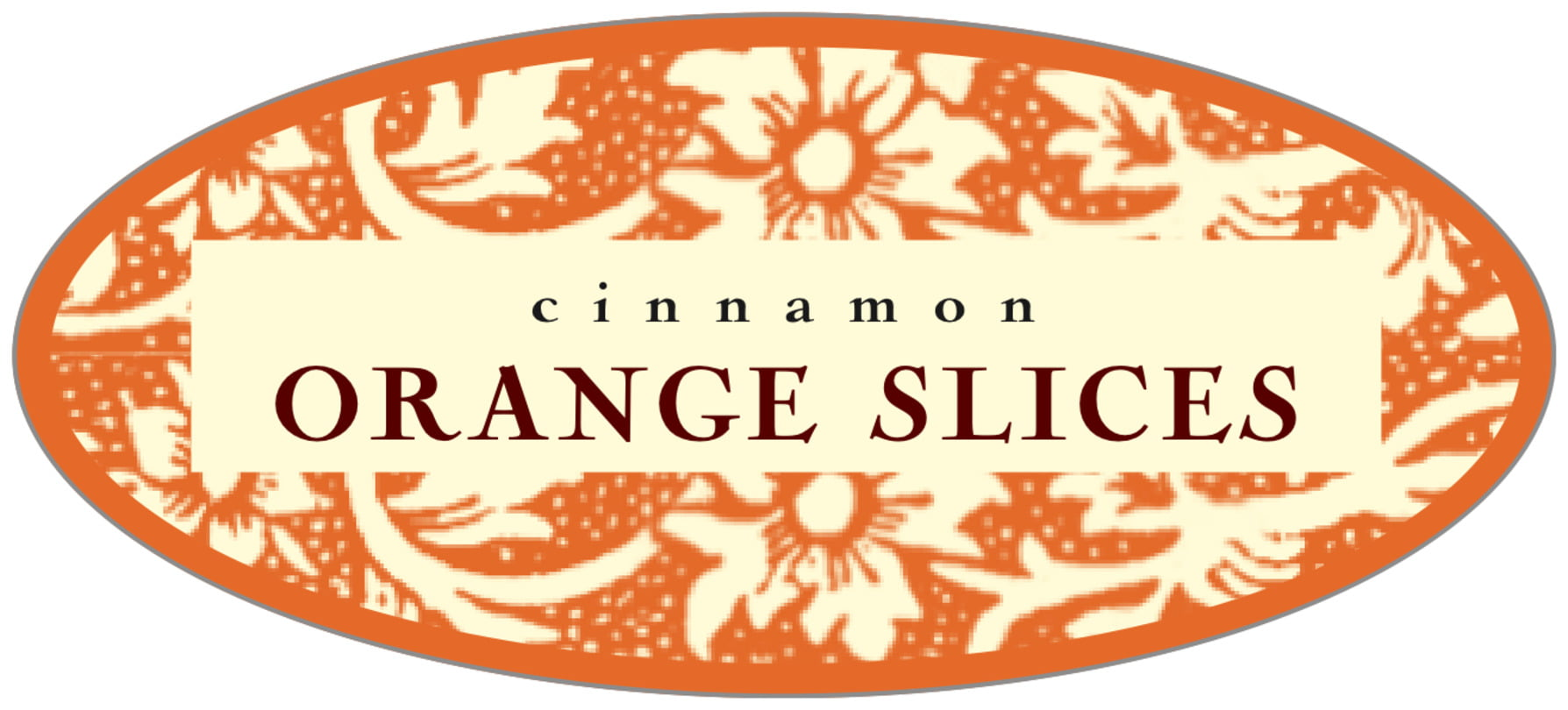 oval food/craft labels - melon - rococo summer (set of 30)