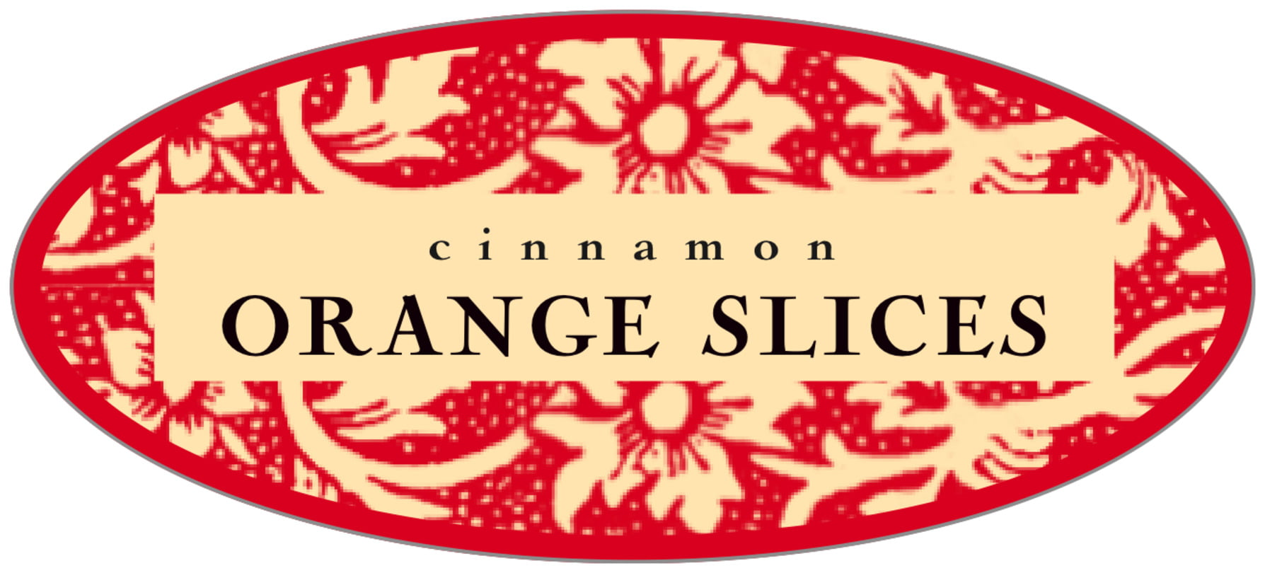 oval food/craft labels - cherry - rococo summer (set of 30)