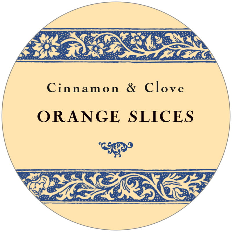 circle food/craft labels - blue - rococo summer (set of 12)