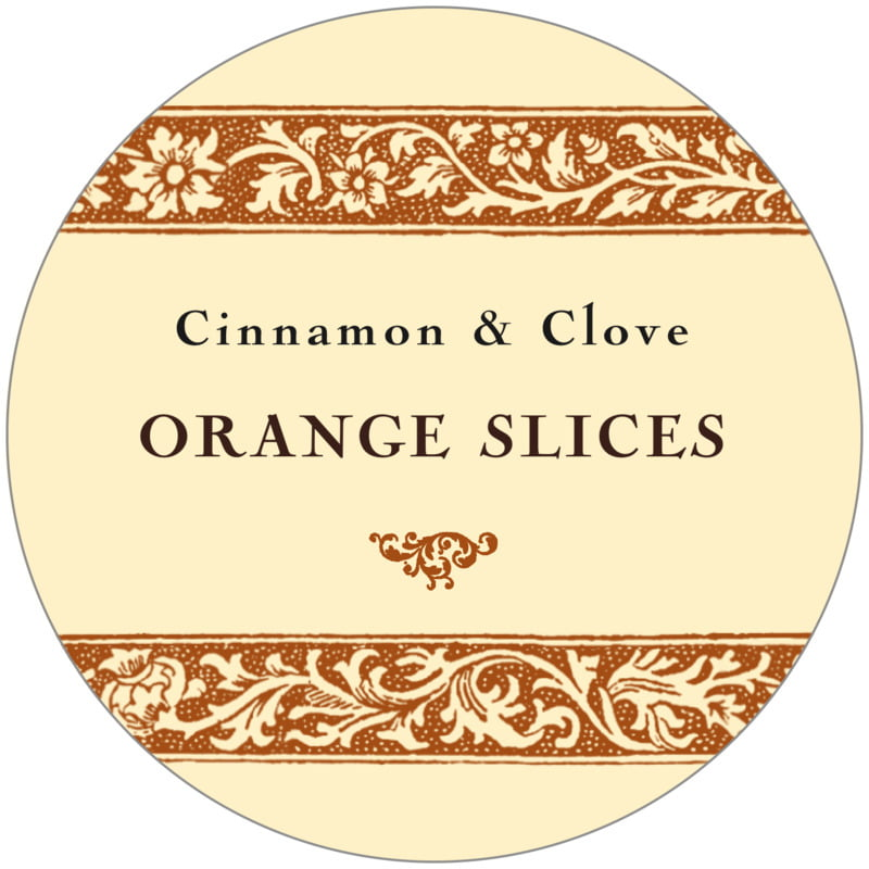 circle food/craft labels - saddle & ivory - rococo summer (set of 12)