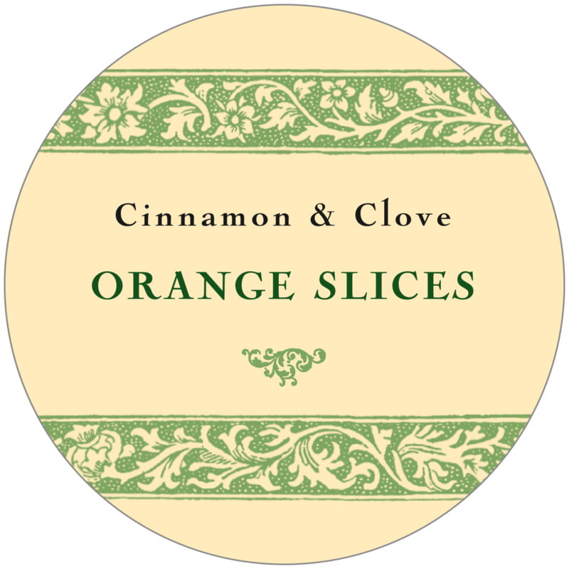 circle food/craft labels - sage & ivory - rococo summer (set of 12)