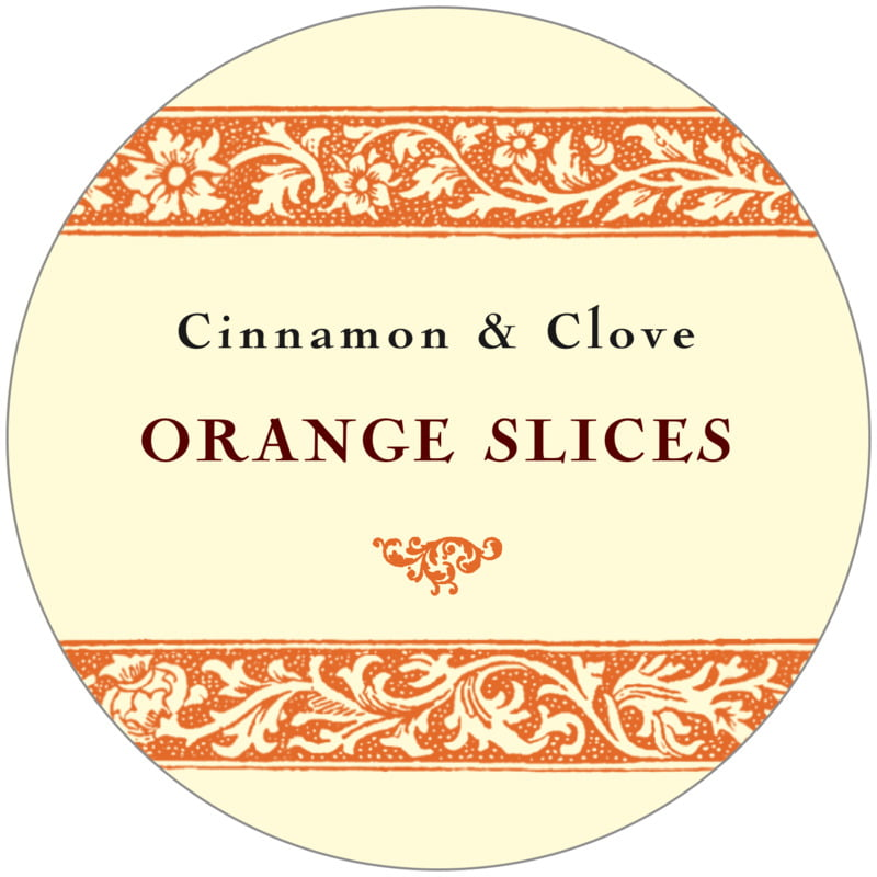 circle food/craft labels - melon - rococo summer (set of 12)