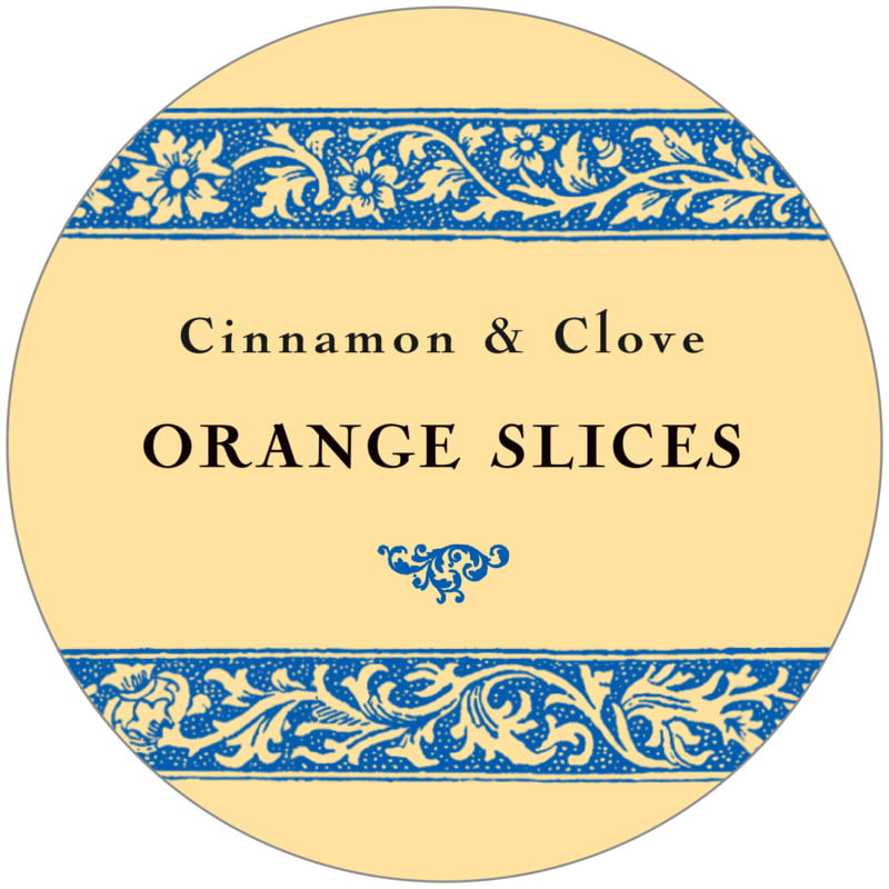 circle food/craft labels - royal blue & gold - rococo summer (set of 12)