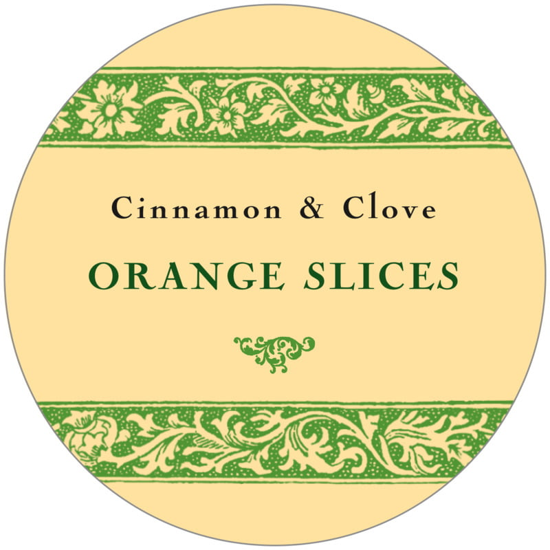 circle food/craft labels - lime - rococo summer (set of 12)