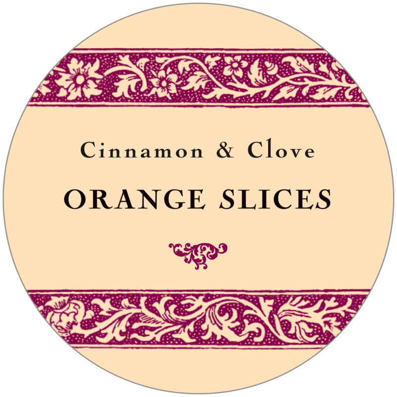 circle food/craft labels - burgundy - rococo summer (set of 12)