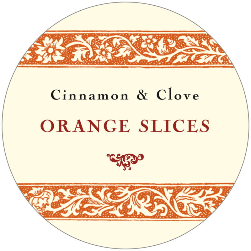 circle food/craft labels - spice - rococo summer (set of 12)