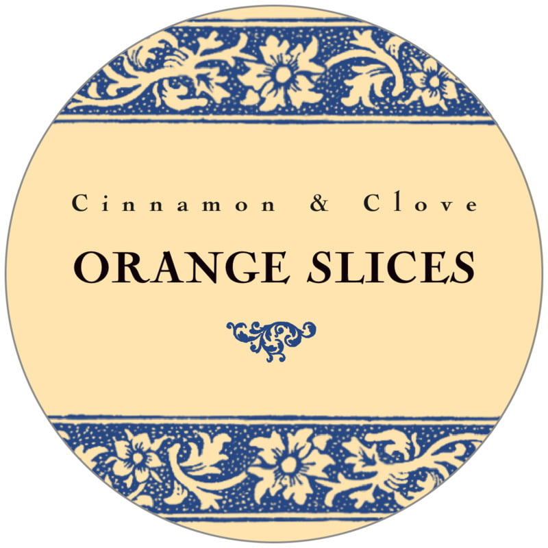 circle food/craft labels - blue - rococo summer (set of 20)