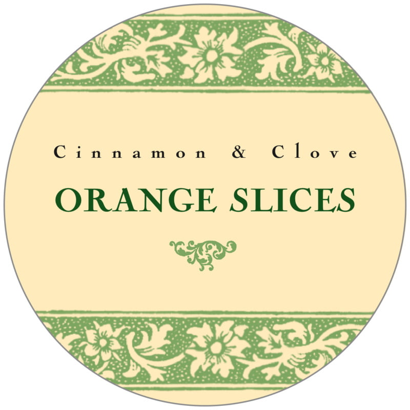 circle food/craft labels - sage & ivory - rococo summer (set of 20)