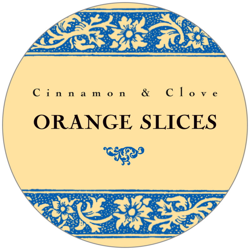 circle food/craft labels - royal blue & gold - rococo summer (set of 20)