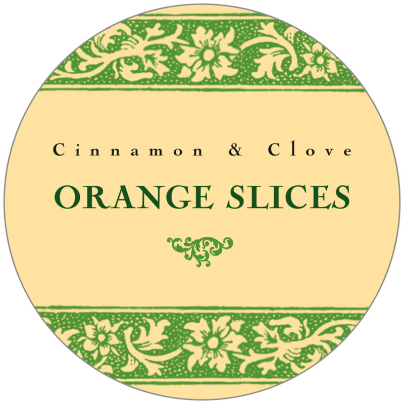 circle food/craft labels - lime - rococo summer (set of 20)