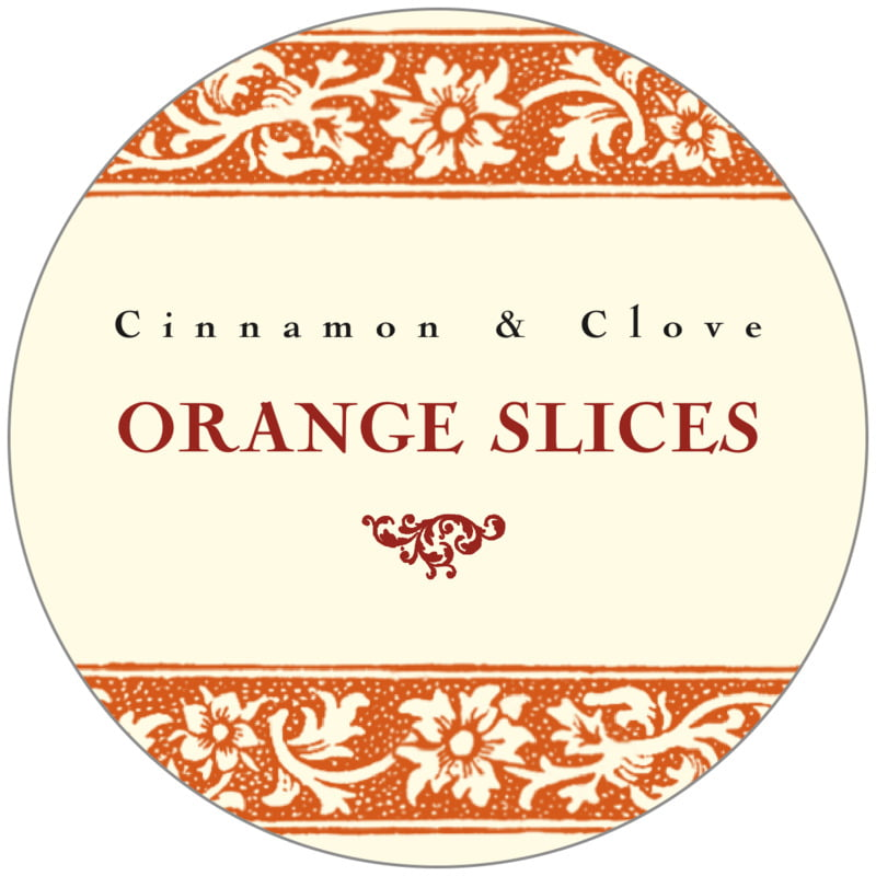 circle food/craft labels - spice - rococo summer (set of 20)