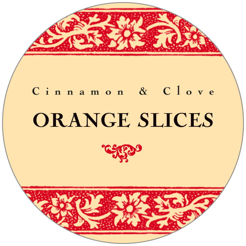 circle food/craft labels - cherry - rococo summer (set of 20)