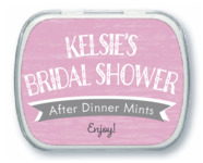Rustic Retro bridal shower mint tins