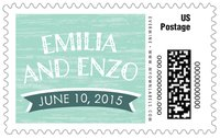 Rustic Retro large postage stamps