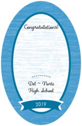 Rustic Retro tall oval labels
