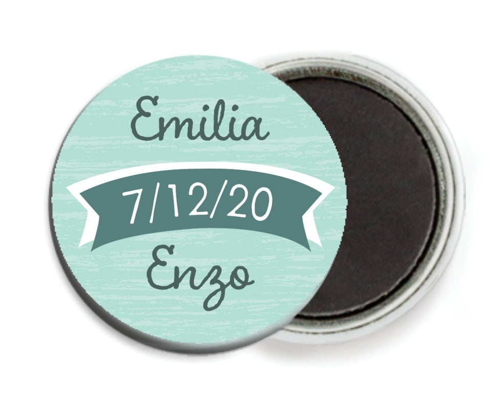custom button magnets - sea glass - rustic retro (set of 6)