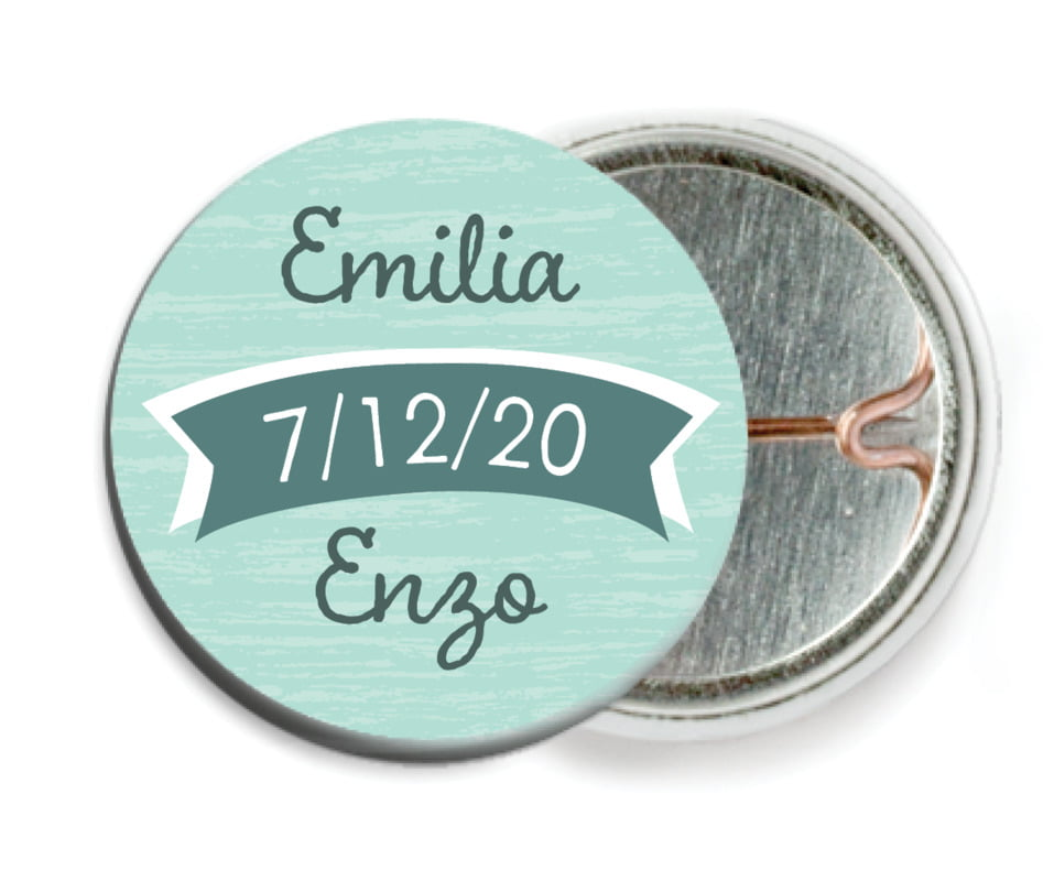 custom pin back buttons - sea glass - rustic retro (set of 6)