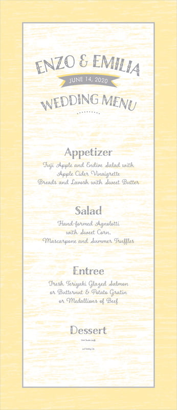 custom menus - sunflower - rustic retro (set of 10)