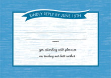 custom response cards - blue - rustic retro (set of 10)