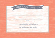 custom response cards - coral - rustic retro (set of 10)