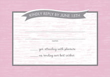 custom response cards - peony - rustic retro (set of 10)