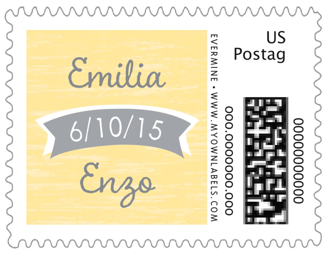 small custom postage stamps - sunflower - rustic retro (set of 20)