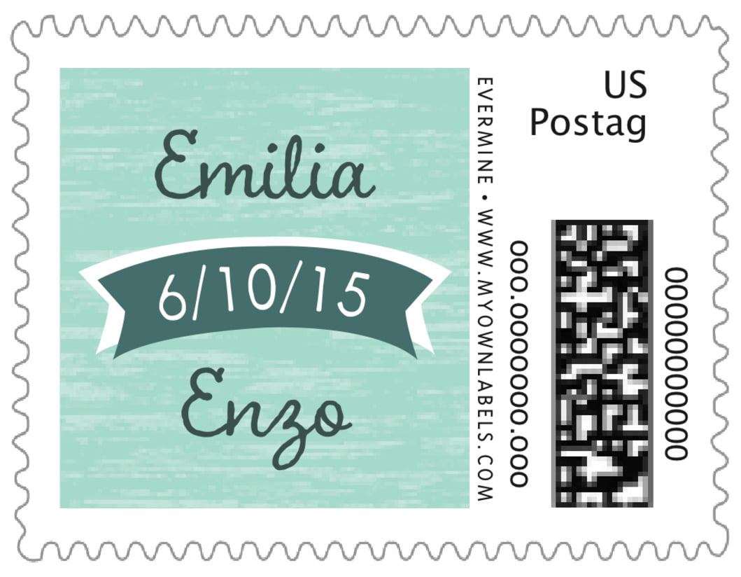 small custom postage stamps - sea glass - rustic retro (set of 20)