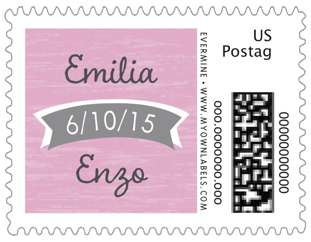 small custom postage stamps - peony - rustic retro (set of 20)
