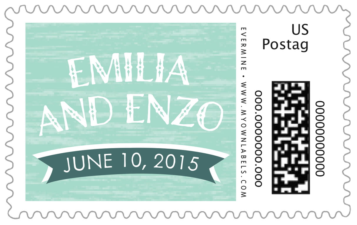 custom large postage stamps - sea glass - rustic retro (set of 20)