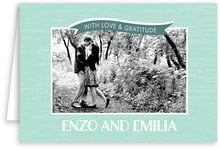 Rustic Retro wedding thank you cards