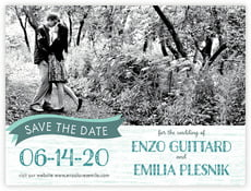 Rustic Retro save the date cards