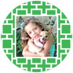 Royal Suite Circle Photo Label In Kelly Green
