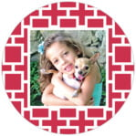 Royal Suite Circle Photo Label In Deep Red