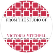 Royal Suite Large Circle Gift Label In Deep Red