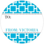 Royal Suite small circle gift labels