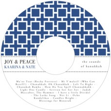 Royal Suite Cd Label In Deep Blue